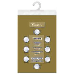 Скатерть бумажная ламинированная ASTER «Creative», 120×200, золотая, эффект шелка, Бельгия
