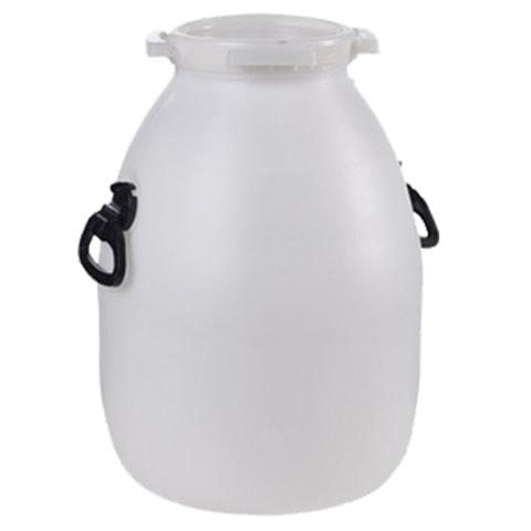 Бочка-бидон 41 л (41 дм3), навесные ручки, винтовая крышка, диаметр 192 мм, для пищевых и химических продуктов