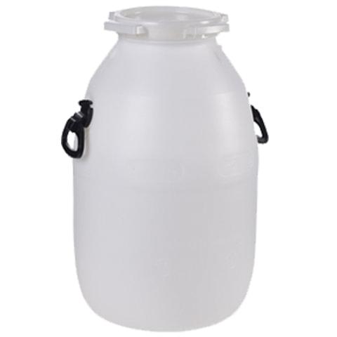 Бочка-бидон 51 л (51 дм3), навесные ручки, винтовая крышка, диаметр 192 мм, для пищевых и химических продуктов