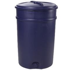 Бочка-бак 205 л, полиэтилен (ПЭНД), крышка накладная, диаметр 587 мм, для пищевых и химических продуктов