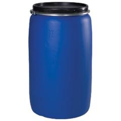 Бочка 227 л, OpenTop, полиэтилен (ПЭНД), крышка с хомутом, диаметр 473 мм, для пищевых и химических продуктов