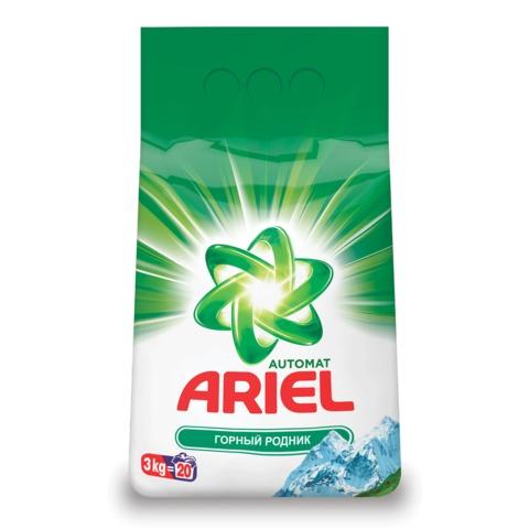 Стиральный порошок-автомат 3 кг, ARIEL (Ариэль) «Горный родник»