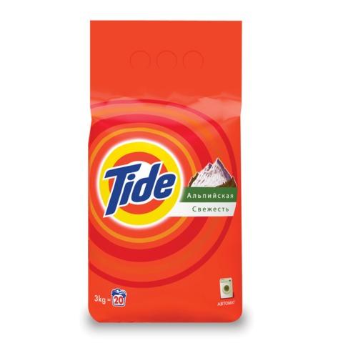 Стиральный порошок-автомат 3 кг, TIDE (Тайд) «Альпийская свежесть»