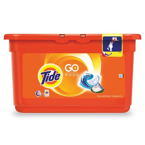 Стиральный порошок-автомат капсулы TIDE (Тайд), 30 шт. по 25,2 г, «Альпийская свежесть»