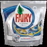 Средство для мытья посуды в посудомоечных машинах FAIRY Platinum (Фейри Платинум), «All in 1», 20 шт., капсулы