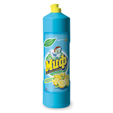 """Средство для мытья посуды 1 л, МИФ """"Лимонная свежесть"""""""