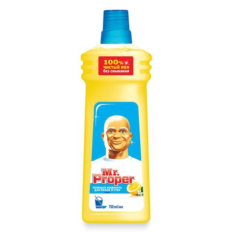 Средство для мытья пола и стен MR.PROPER (Мистер Пропер), 750 мл, «Лимон»
