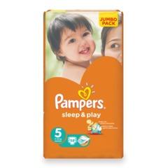 Подгузники 58 шт., PAMPERS (Памперс) «Sleep&Play», размер 5 (11-18 кг)