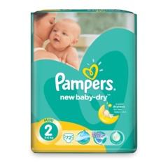 Подгузники 72 шт., PAMPERS (Памперс) «Active Baby», размер 2 (3-6 кг)