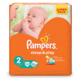 ���������� PAMPERS (�������) «Sleep&Play», ������ 2 (3-6 ��), 88 ��.