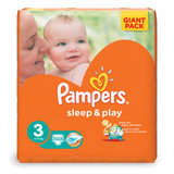 Подгузники PAMPERS (Памперс) «Sleep&Play», размер 3 (4-9 кг), 100 шт.