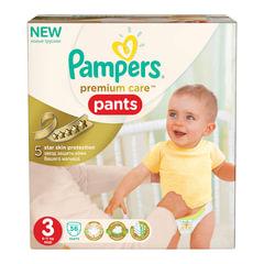 Подгузники-трусики 56 шт., PAMPERS (Памперс) «Premium Care Pants», размер 3 (6-11 кг)