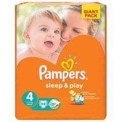 Подгузники 86 шт., PAMPERS (Памперс) «Sleep&Play», размер 4 (7-14 кг)