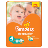 ���������� PAMPERS (�������) «Sleep&Play», ������ 4 (7-14 ��), 86 ��.