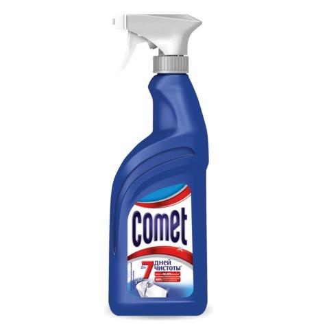 Средство для чистки ванн и душевых COMET (Комет), 500 мл, распылитель, дезинфицирующее