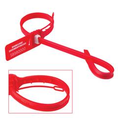 """Пломбы мешковые номерные «ДРАКОН-М"""" (тип """"АКУЛА-М»), длина рабочей части 340 мм, красные, комплект 100 шт."""