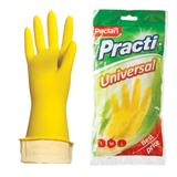 Перчатки хозяйственные резиновые PACLAN «Universal», с х/<wbr/>б напылением, размер M (средний), желтые