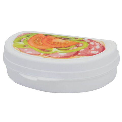 Бутербродница, 4х10,5х15 см, цвет белый, рисунок ассорти, IDEA