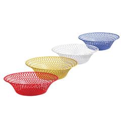 Корзинка круглая, диаметр 25 см, для фруктов и сухарей, цвет ассорти, IDEA