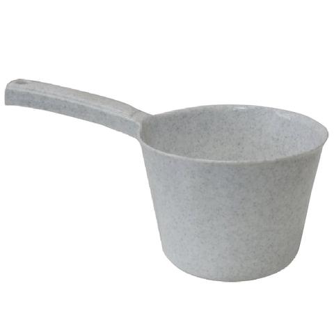 Ковш 1 л, круглый, IDEA, диаметр 14 см, с длинной ручкой, 12,5×14×26 см, цвет мраморный