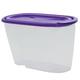 Контейнер 0,9 л для сыпучих продуктов IDEA, прозрачный, крышка с клапаном, 11×9×19 см