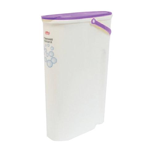 Контейнер 5 л, с крышкой-клапаном, для стирального порошка, кормов, 32х11х24 см, белый, IDEA