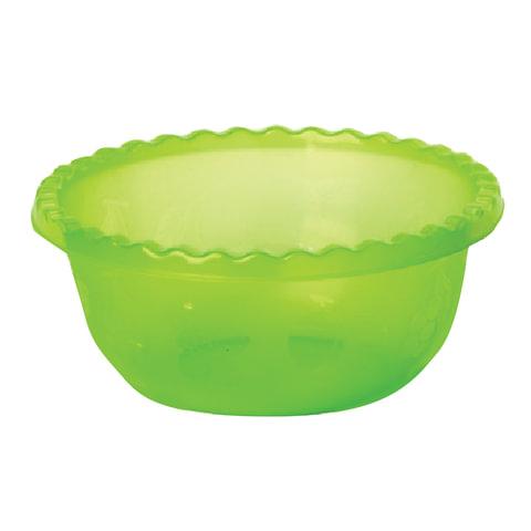 Миска-салатник 8 л, для приготовления и хранения, высота 14 см, диаметр 35 см, круглая, салатовая, IDEA