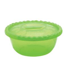 Миска-салатник 3 л, с крышкой, приготовление и хранение, универсальная, высота 10 см, диаметр 25 см, цвет салатовый, IDEA