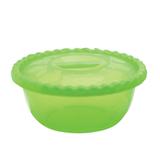 Миска-салатник 3 л с крышкой, IDEA, круглая, диаметр 25 см, высота 10,5 см, цвет салатовый