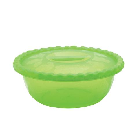Миска-салатник 2,7 л, с крышкой, приготовление и хранение, 8×19×31 см, овальная, цвет салатовый, IDEA
