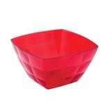 Миска-салатник 0,75 л IDEA «Кристал Квадро», 8×13,5×13,5 см, цвет красный, прозрачный