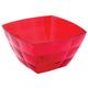 Миска-салатник 2 л IDEA «Кристал Квадро», 12×19×19 см, цвет красный, прозрачный