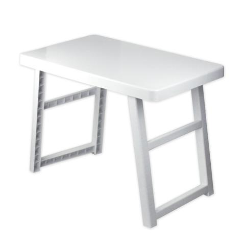 Стол складной IDEA, высота 56 см, пластиковый, в сложенном виде 5×72×48 см, цвет серый