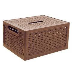 Ящик 17 л, с крышкой, для хранения, универсальный, 19×37×28 см, коричнивый, «Ротанг», IDEA