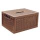 Ящик 17 л для хранения универсальный IDEA «Ротанг», с крышкой, 19×37×28 см, бежевый