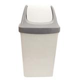 Ведро-контейнер 25 л для мусора IDEA «Свинг», качающаяся крышка, 58×32×28 см, серый мрамор