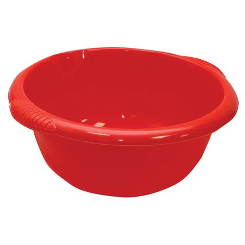 Таз 16 л, хозяйственный, IDEA, круглый, с ручками, пластиковый, 18×45×49 см, цвет красный