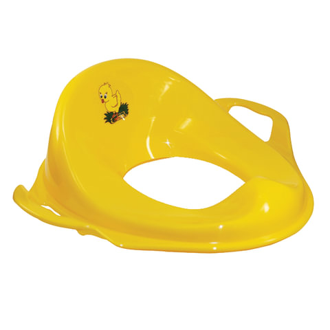 Горшок-накладка на унитаз детская, пластиковая, с ручками, 14х37х41 см, желтая, IDEA