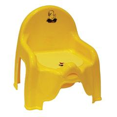 Горшок-стульчик детский, горшок-вкладыш, пластиковый, 30×26×35 см, желтый, IDEA