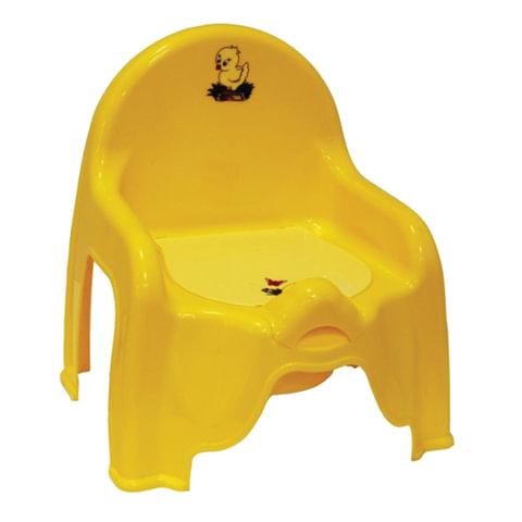 Горшок-стульчик детский, горшок-вкладыш, пластиковый, 30х26х35 см, желтый, IDEA