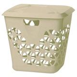 Корзина 45 л, с крышкой, для мусора/<wbr/>белья, прямоугольная, пластик, 43×37×47 см, бежевая, IDEA