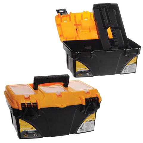 """Ящик для инструментов """"Титан"""", 16"""", 22х41х20 см, 3 бокса для мелочей, IDEA"""