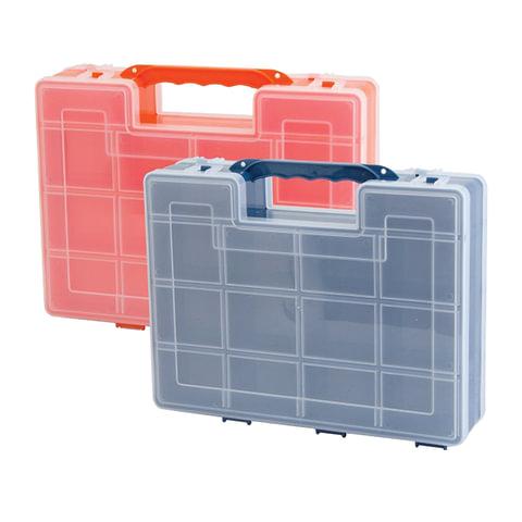 Ящик-органайзер для инструментов и мелочей, 2-х сторонний, 8х27х22 см, IDEA
