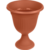 Кашпо-вазон 10 л для цветов IDEA «Ливия», высокая ножка, высота 44 см, диаметр 35 см, цвет коричневый