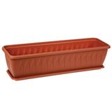 Кашпо-балконный ящик 10,5 л для цветов IDEA «Алиция», 16×60×19 см, цвет коричневый