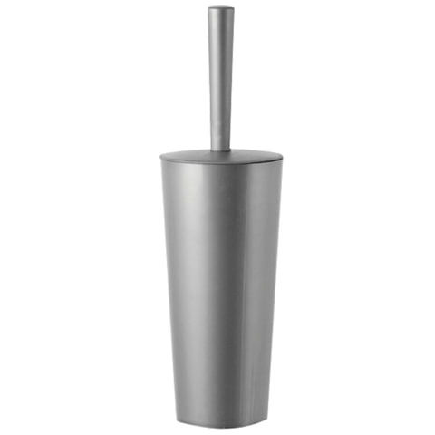 Ерш для унитаза IDEA «Стар», закрытый, высокая подставка-стакан, цвет серебристый