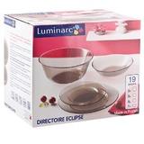 Набор посуды столовый LUMINARC «Directoire Eclipse», 19 предметов, тонированный, гладкое стекло