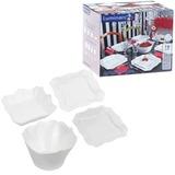 Набор посуды столовый «Authentic White», 19 предметов, белое стекло, LUMINARC