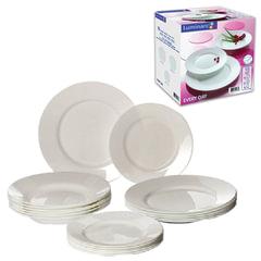 Набор посуды столовый «Everyday», 18 предметов, белое стекло, LUMINARC