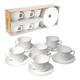 Набор посуды кофейный LUMINARC «Trianon», 6 кружек по 160 мл, 6 блюдец, белое стекло